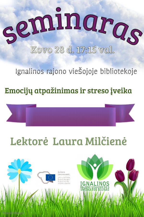"""Seminaras """"Emocijų atpažinimas ir streso įveika"""""""