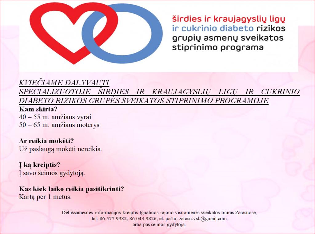 diabeto širdies sveikatos stiprinimas)
